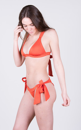 The Katie Top Coral by Tidal Swimwear London