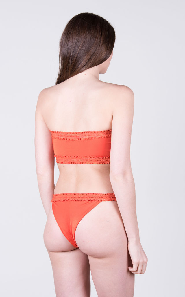 The Holly Top Coral by Tidal Swimwear London