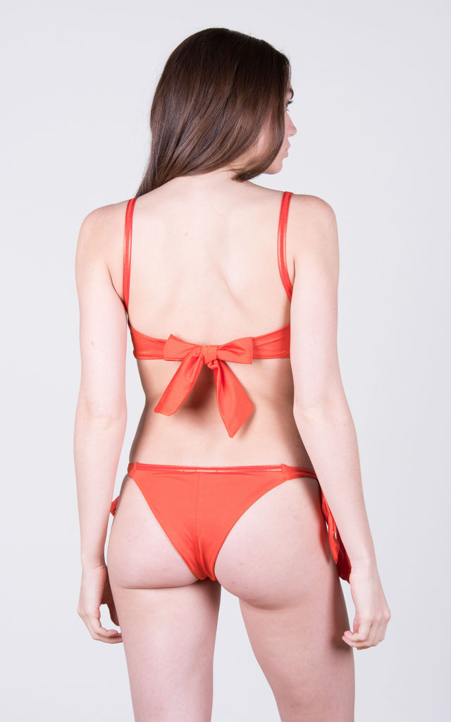 The Helena Top Coral by Tidal Swimwear London