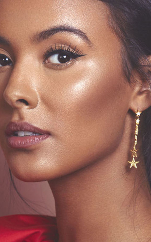 Graduated Star Drop Earring Gold by Latelita London