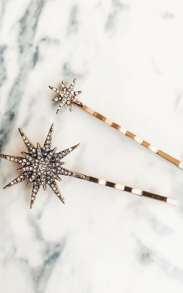 Two to Twinkle Embellished Hair Slide Grips by Ajouter Store