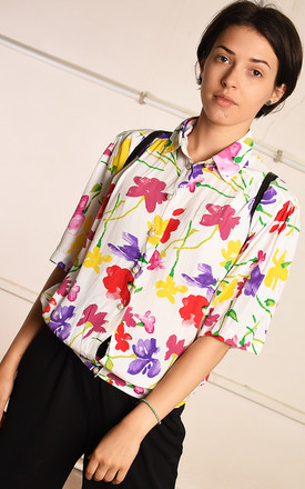 90's retro floral print festival blouse top by Lover