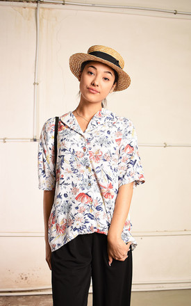 90's retro floral print Paris chic blouse top by Lover