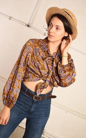 70's retro eastern inspired festival Paris chic shirt top by Lover