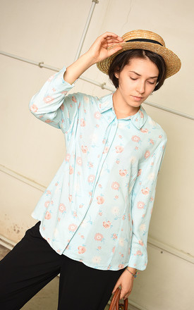 90's retro pastel floral festival Paris chic shirt top by Lover