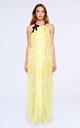 Isabella Halter Neck Maxi Dress in Yellow Print by Coco Riko Ibiza