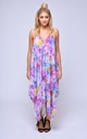 Veronique V Neck Maxi Dress in Multi Floral Print by Coco Riko Ibiza