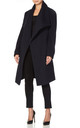 Beverley Navy Large Lapel Duster Coat by De La Creme Fashions