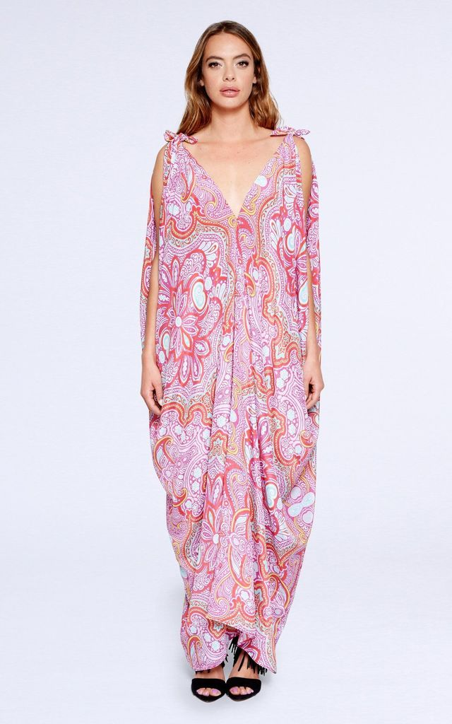 4329e69d1c8be4 Helena V Neck Maxi Dress in Floral Print by Coco Riko Ibiza
