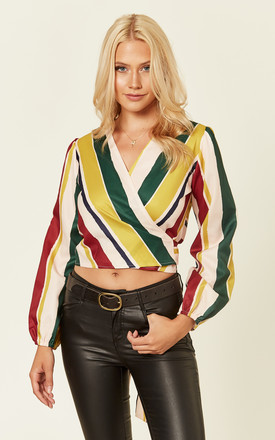 Bold Stripe Wrap Over Top by Oeuvre