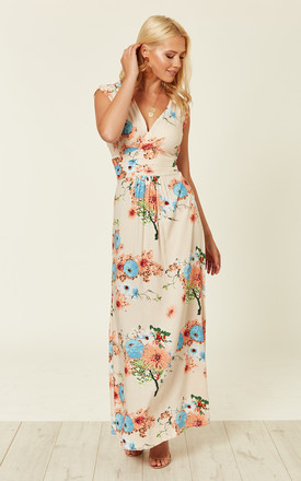 Blush Floral Summer Maxi Dress by Ruby Rocks Product photo