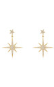 Petite Star burst Drop Earring Gold by Latelita
