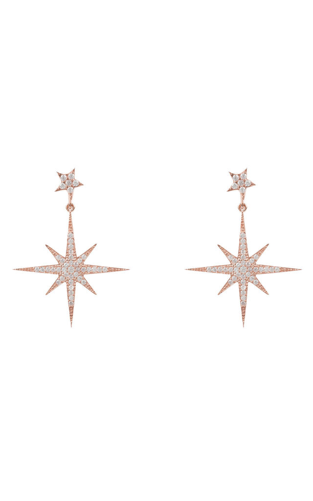 Petite Star burst Drop Earring Rosegold by Latelita