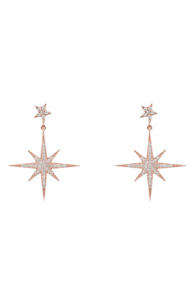 Petite Star Burst Drop Earring Rosegold by Latelita Product photo