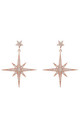 Star burst Drop Earring Rosegold by Latelita London
