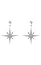 Star burst Drop Earring Silver by Latelita London