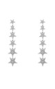 Graduated Star Drop Earring Sterling Silver by Latelita London