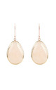 Rosegold Single Drop Earring Rose Quartz by Latelita London