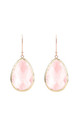 Rosegold Single Drop Earring Rose Quartz Hydro by Latelita London