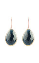 Rosegold Single Drop Earring Sapphire Hydro by Latelita