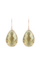 Rosegold Single Drop Earring Smokey Quartz by Latelita London