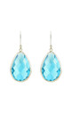 Silver Single Drop Earring Blue Topaz by Latelita