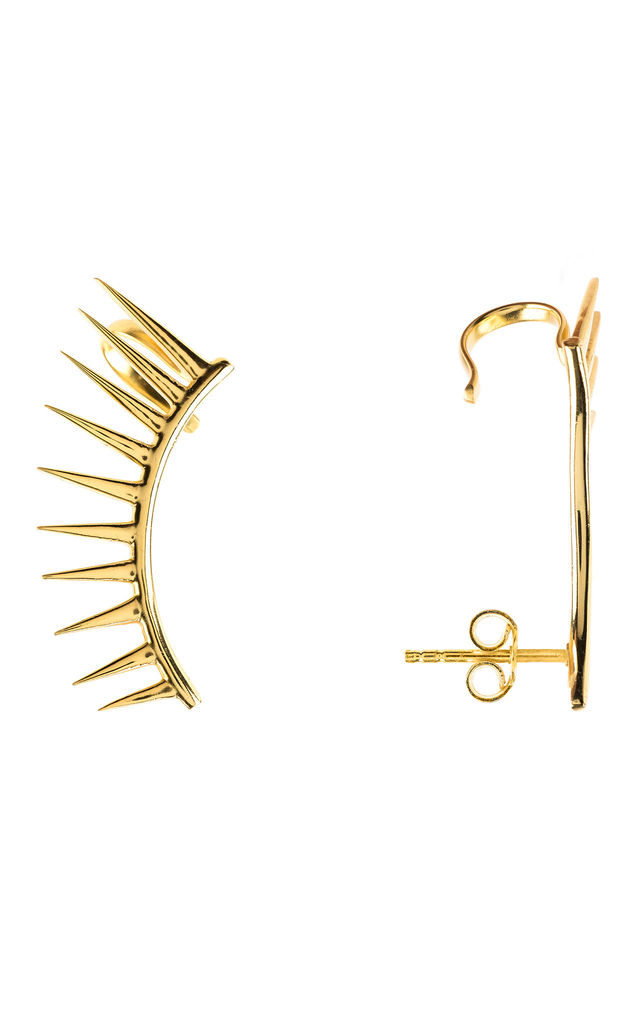 Spikes Gold Ear Cuff Left Ear by Latelita