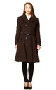 Amber Brown Double Breasted Trench Coat by De La Creme Fashions