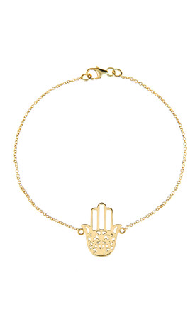 Cosmic Hamsa Bracelet Gold by Latelita Product photo