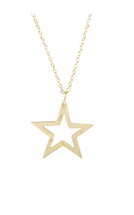 Cosmic Open Star Necklace Gold by Latelita Product photo