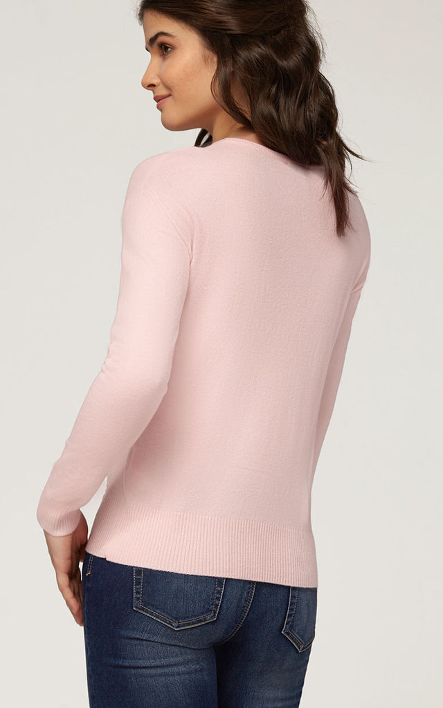 'Beatrice' Dust Pink British Knitted Jumper by Misfit London