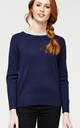 'Beatrice' Navy Blue British Knitted Jumper by Misfit London
