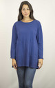 BLUE LONG SLEEVED TOP WITH ENLARGED POCKETS by Lucy Sparks