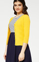 'Oxford' Honey Yellow 1950's Vintage Inspired Teachers Cardigan by Misfit London
