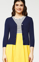 'Oxford' Navy Blue 1950's Vintage Inspired Teacher Style Cardigan by Misfit London