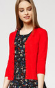 'Oxford' Red 1950's Vintage Inspired Teacher Style Cardigan by Misfit London