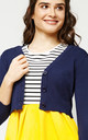 'Penny' Navy Blue Cropped 1950's Vintage Inspired Cardigan by Misfit London