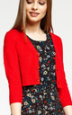 'Penny' Red Cropped 1950's Vintage Inspired Cardigan by Misfit London