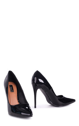 Aston Black Patent Classic Pointed Court Heel by Linzi