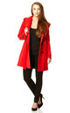 Samantha Red Oversized Hooded Coat by De La Creme Fashions