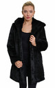 Felicia Luxury Black Faux Fur Hooded Winter Coat by De La Creme Fashions