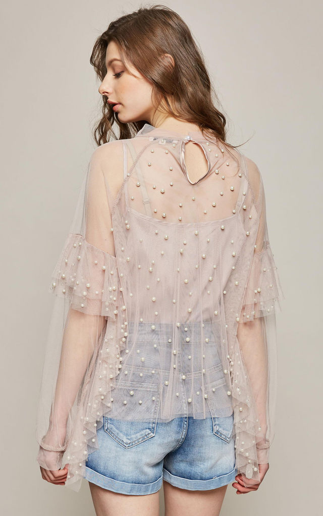 Pearls Embellished Top by Amy Lynn