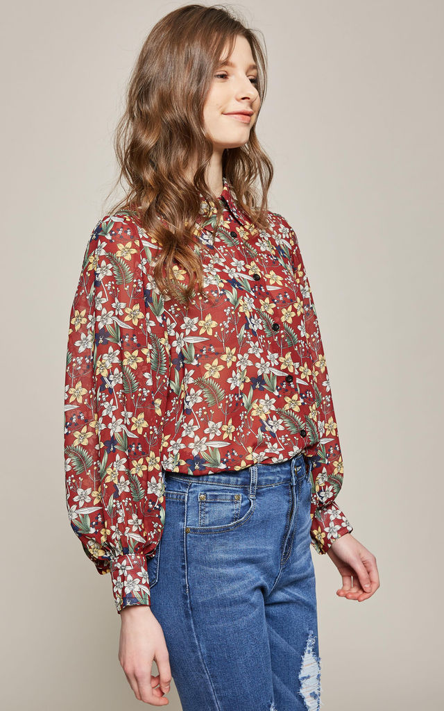 Flower Print Blouse by Amy Lynn