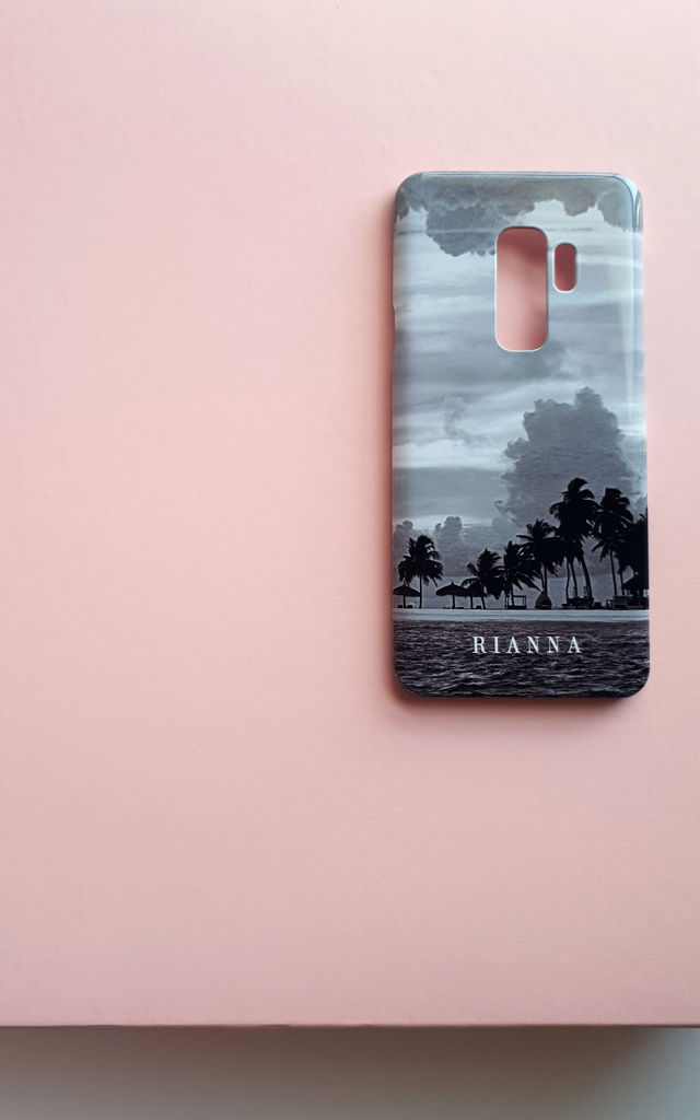 Island Life monogram phone case by Rianna Phillips