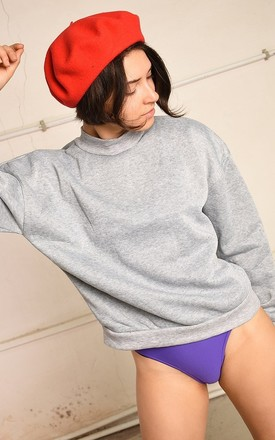 Grey Crew Neck Jumper by Lover
