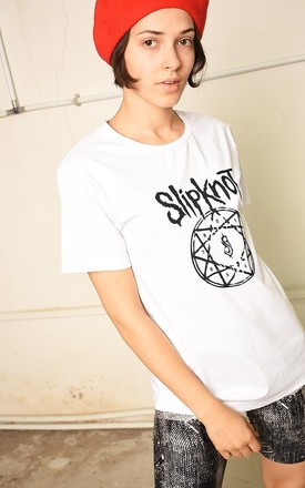 White festival Slipknot rock band t-shirt top tee by Lover