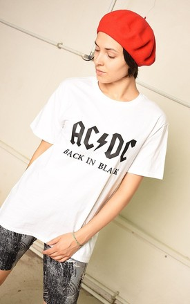 White festival AC/DC band t-shirt top tee by Lover