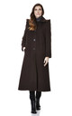 Chantelle Brown Faux Fur Trim Hooded Long Coat by De La Creme Fashions
