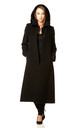 Chantelle Black Faux Fur Trim Hooded Long Coat by De La Creme Fashions