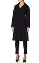 Diana Navy Open Front Wrap Around Duster Coat by De La Creme Fashions